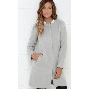 BB Dakota Women's XS Regan Collarless  coat